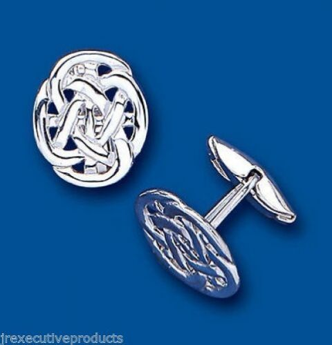 Celtic Cufflinks Solid Sterling Silver